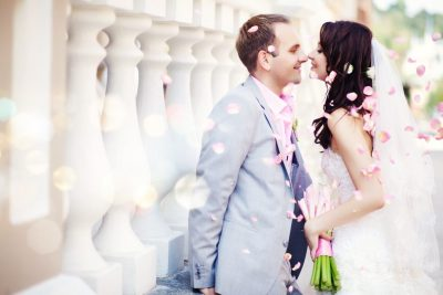 Brautpaar bei der Hochzeit