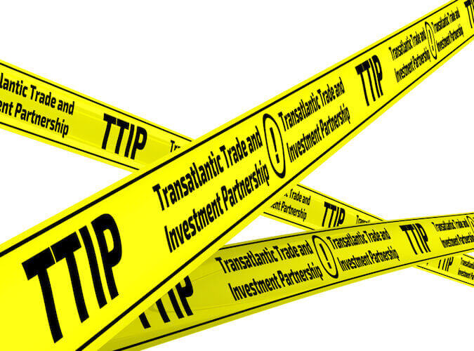Steht seit Jahren in der Kritik: Das geplante transatlantische Freihandelsabkommen TTIP.