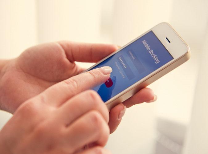Transaktionen einfach mit dem Handy durchführen.